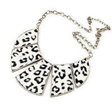 Necklace_Statement Animal Monochrome Panel Print Necklace Wear With Love