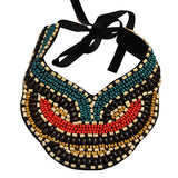 Necklace_Statement Caribbean Dreams Beaded Collar Bib Necklace Wear With Love