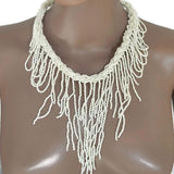Necklace_Statement Handmade Festival Drape Bohemian Full Beaded Necklaces Wear With Love
