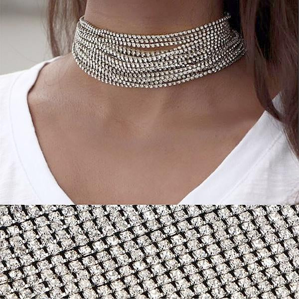 Necklace_Statement Sirius Crystal Choker Necklace Wear With Love