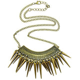 Necklace_Statement Vintage Fringe Punk Spike Necklace Wear With Love
