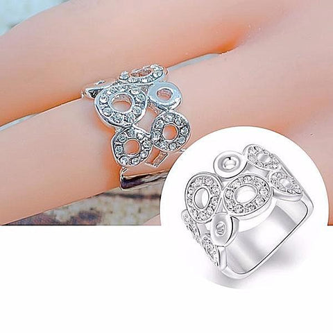 Rings_Statement Austrian Crystal Circle Band Ring Wear With Love