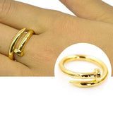 Rings_Statement Bijoux Gold Plated Nail Ring Wear With Love