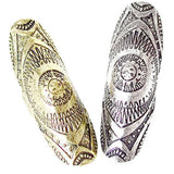 Rings_Statement Bohemian Long Shield Metal Engraved Rings Wear With Love