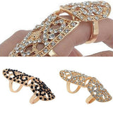 Rings_Statement Double Jointed Embellished Crystal Ring Wear With Love