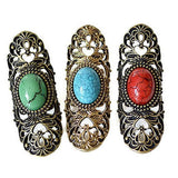 Rings_Statement Filigree Long Carved Stone Rings Wear With Love