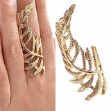 Rings_Statement Grecian Gold Curved Leaf Ring Wear With Love