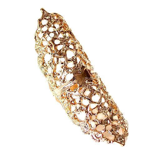 Rings_Statement Long Gold Filigree Statement Ring Wear With Love