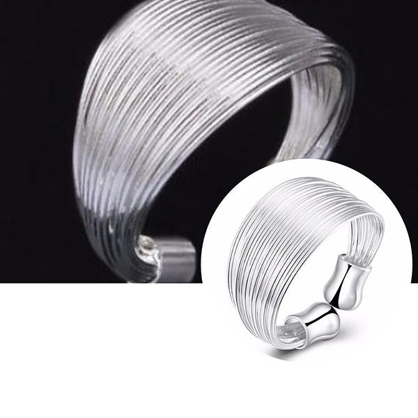 Rings_Statement Multi Band Open Back Thumb Silver Ring Wear With Love