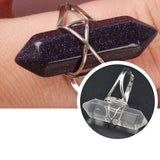 Rings_Statement Quartz Wrap Reiki Bullet Healing Stone Ring Wear With Love