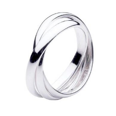 Rings_Statement Silver Triple Band Infinity Ring Wear With Love