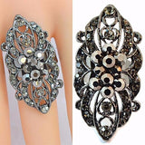Rings_Statement Victorian Style Crystal Carved Rings Wear With Love