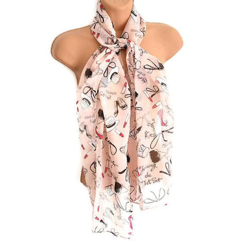 Scarves Lipstick & Heels Print Scarf Wear With Love