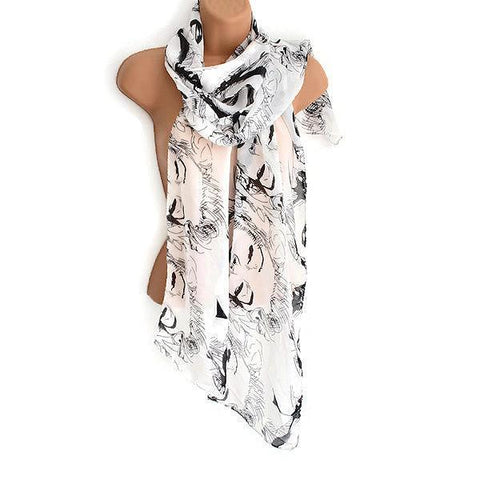 Scarves Marilyn Monroe Printed Logo Scarf Wear With Love