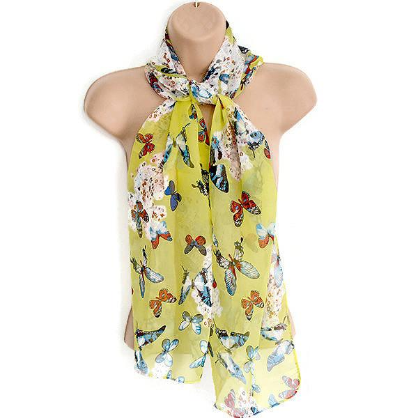 Scarves Pretty Butterfly Summer Print Scarf Wear With Love