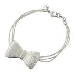 Silver & Charm Bracelets Bow Bracelet Wear With Love