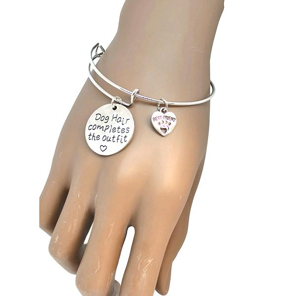 Silver & Charm Bracelets Dog Lover Hair Completes The Outfit Bracelet Wear With Love