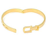 Silver & Charm Bracelets Gold Buckle Belt Bijoux Bracelet Wear With Love