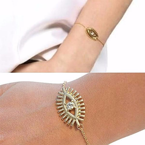 Silver & Charm Bracelets Gold Fatima Evil Eye Bracelet Wear With Love