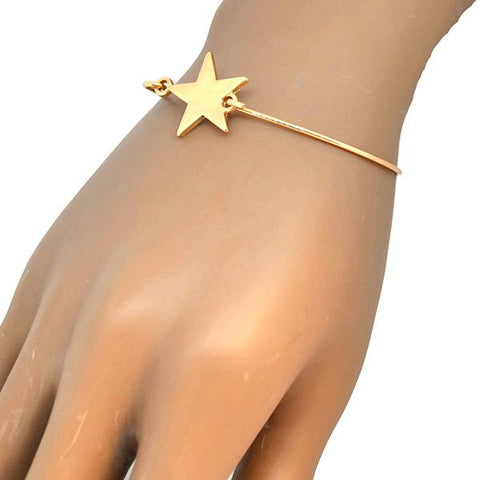 Silver & Charm Bracelets Reach For The Stars Gold Bangle Wear With Love