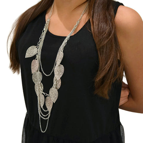 Feather Multi Chain Necklace