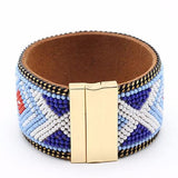 Statement Bracelets Bijoux Wide Vibrant Magnet Beaded Cuff Wear With Love