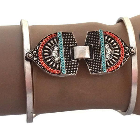 Statement Bracelets Bohemian Tribal Metal Aztec Bracelet Wear With Love
