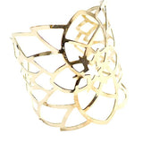 Statement Bracelets Gold Filigree Cut Out Cuff Bracelet Wear With Love