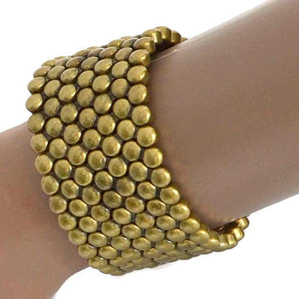 Statement Bracelets Gold Studded Effect Punk Bracelet Wear With Love