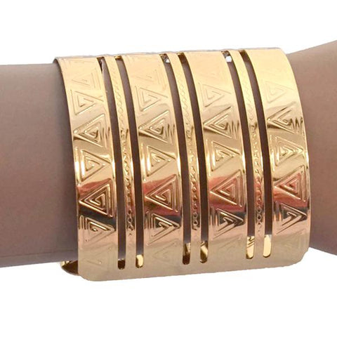 Statement Bracelets Modern Gold Engraved Cuff Bracelet Wear With Love