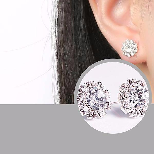 Studs Earrings Burst Of Sparkle Stud Wear With Love