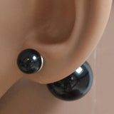 Studs Earrings Double Pearl Stud Wear With Love