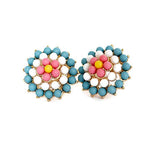 Studs Earrings Kitsch Daisy Beaded Flower Wear With Love