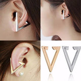 Studs Earrings Retro Triangle Ear Clip Cuff Wear With Love