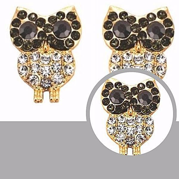 Studs Earrings Rhinestone Crystal Owl Stud Wear With Love