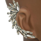 Studs Earrings Silver Cluster Crystal Ear Jacket Stud Wear With Love