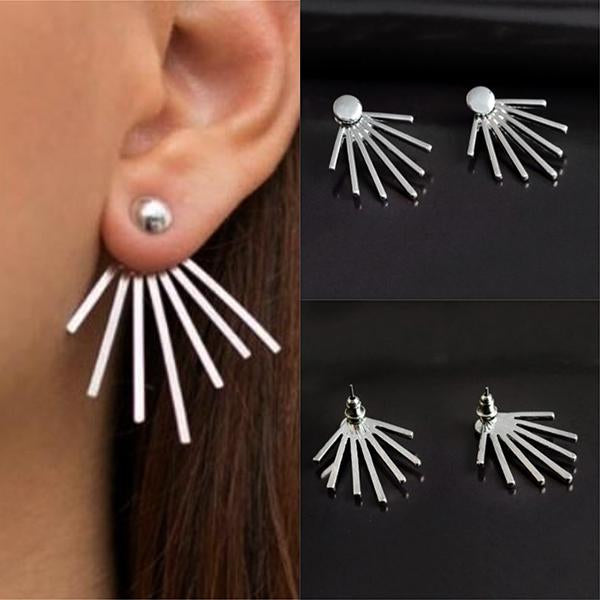 Studs Earrings Stud & Spike Ear Jacket Wear With Love