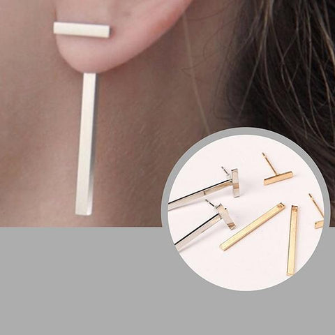 Studs Earrings T Bar Stud Wear With Love