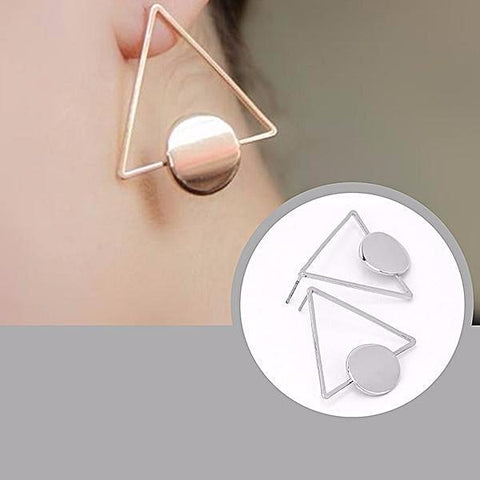 Studs Earrings Triangular Stud Wear With Love