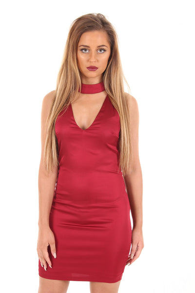 Berry silk dress