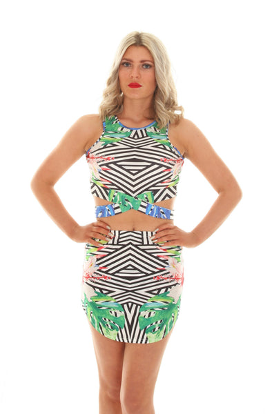 Tropical two print mini two piece