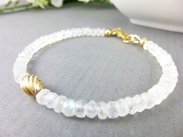 Moonstone Chakra Bracelet - Earth Energy Gemstones