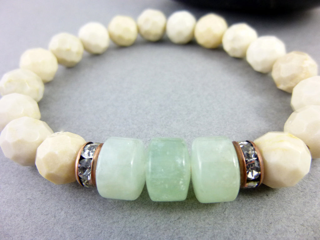 Aquamarine Throat Chakra Healing Crystals Bracelet