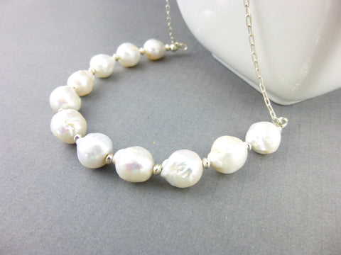Baroque Pearl Necklace - Earth Energy Gemstones