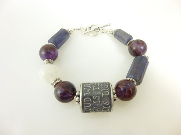 Anne Choi Sterling Silver Bead Bracelet, Chakra Stones - Earth Energy Gemstones