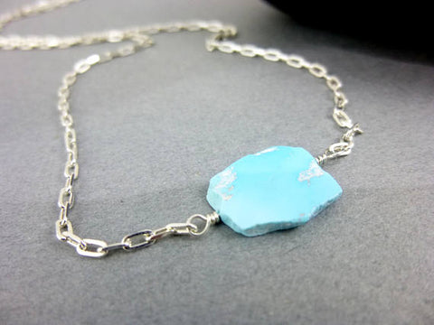 Turquoise Chakra Necklace, 14K Gold Filled or Sterling Silver - Earth Energy Gemstones