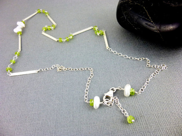 Boho Peridot Chakra Necklace - Earth Energy Gemstones