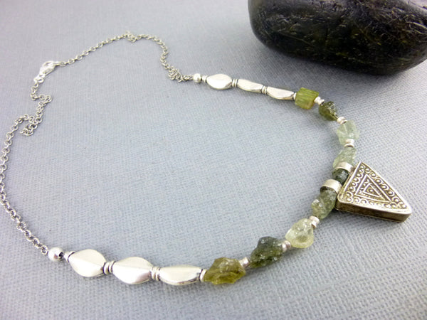 Raw Tourmaline Chakra Necklace - Earth Energy Gemstones