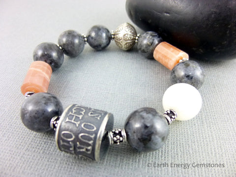 Anne Choi Silver Bead Bracelet, Moonstone - Earth Energy Gemstones