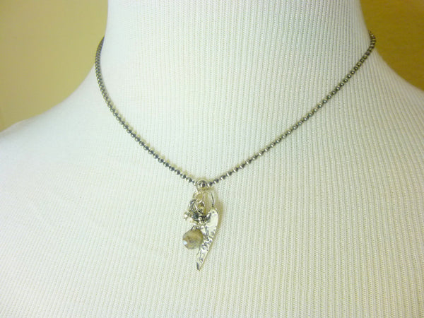 Sterling Silver Heart Charm Necklace - Earth Energy Gemstones